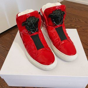 Versace Red Medusa High-Top Sneakers, 98% New